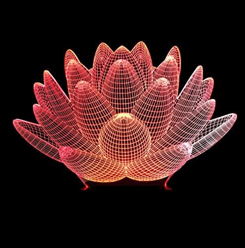3D Led Nuit Lumière Fleur Forme ...
