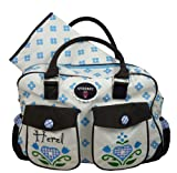 ANBERRY Wickeltasche Herzl on Tour, Diaperbag Blue / Blau
