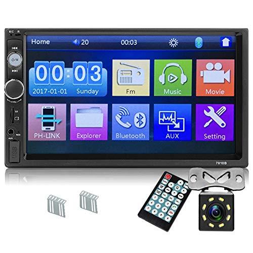 SODIAL Actualice 7010B 2 DIN Radio del Coche Reproductor De 7 Pulgadas...