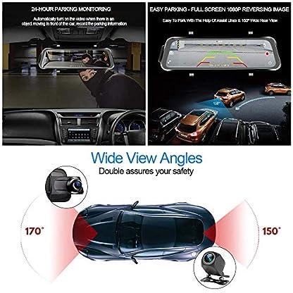 Dash-Cam-Auto-Kamera-988-Zoll-Full-Touchscreen-Auto-Rckspiegel-Video-Recorder-1080P-HD-Dual-Lens-Simultan-Aufnahme-G-Sensor-Rckfahr-Parkmonitor-Fahr-Recorder-mit-32G-SD-Karte