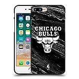 Head Case Designs Offizielle NBA S&W Marmor Chicago Bulls Soft Gel Hülle Schwarz für Apple iPhone 7 Plus/iPhone 8 Plus