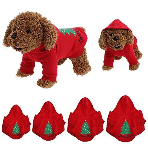 AMURAO Winter Hund Kleidung,Weihnachten Santa Kleidung für Hund Kostüm Mantel Kleidung Cute Puppy - Gans Hund Kostüm