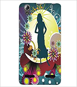 LENNOVO A6000 PLUS SHADOW GIRL Designer Back Cover Case By PRINTSWAG