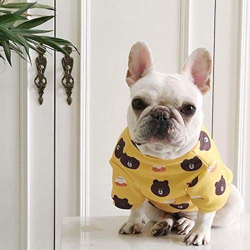 Tide Brand Pet Clothing Hot Stamping French Bulldog Bugs Bully English Dog Kleidung Frühling und Herbst New Boy @ Yellow Bear Plus Cashmere_L -