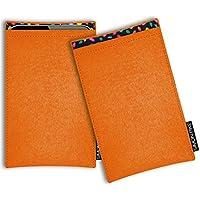 SIMON PIKE Samsung Galaxy S9+ Filztasche Case Hülle 'Boston' in orange13, passgenau maßgefertigte Filz Schutzhülle aus echtem Natur Wollfilz, dünne Tasche im schlanken Slim Fit Design für das Galaxy S9+