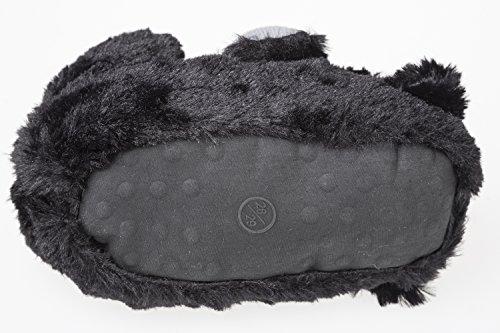 """GIBRA tierhausschuhe """"oursons""""-noir-taille 36/37 à 41 Noir - Noir"""