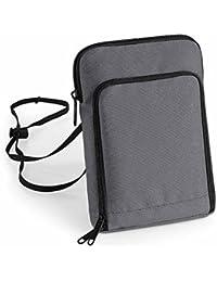 Bag base - grande pochette tour de cou papiers passeport voyage - BG48 - gris graphite