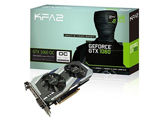 KFA2 Nvidia GeForce GTX 1060 OC 3GB, 60NNH7DSL9CK, schwarz (Geforce 980 Gtx 6gb Nvidia)