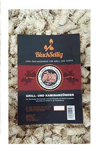 BlackSellig 10 Kilo natürliche Anzünder Anzündwolle Grillanzünder Ofenanzünder Kaminanzünder aus Holzwolle und Wachs