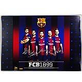 alles-meine.de GmbH Schreibtischunterlage / Unterlage -  Fussball - FC Barcelona - FCB  - 60 cm * 40 cm - Schreibunterlage - mit Einschubfach transparent - PCV - wasserfest abw..