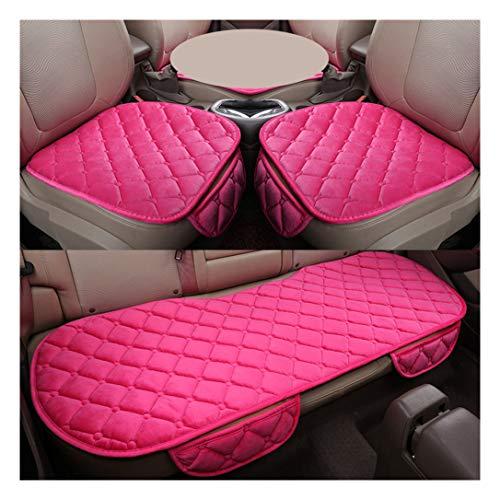 MISSMAO_FASHION2019 Set Completo di Coprisedili Auto 5 Posti Seat Cover Anteriori e Posteriori Protezioni Universali per Macchina Tessuto Poliestere Pink:2 Anteriori+1 Sedile Posteriore Taglia U