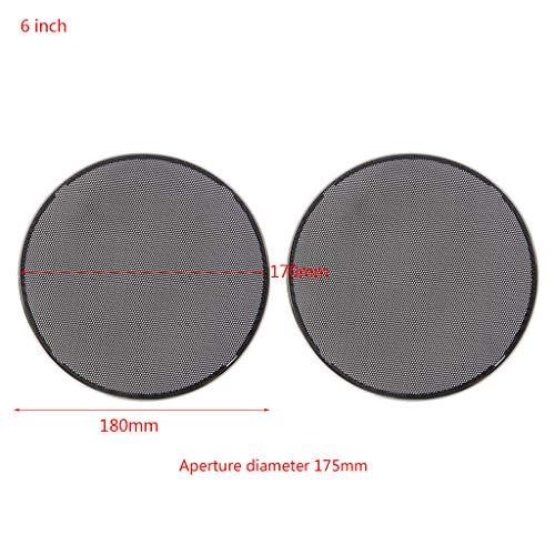Xuniu 2 Stück 6,5-Zoll-Lautsprecher Stahlgitter Runde Grill Schutzhülle Kreis