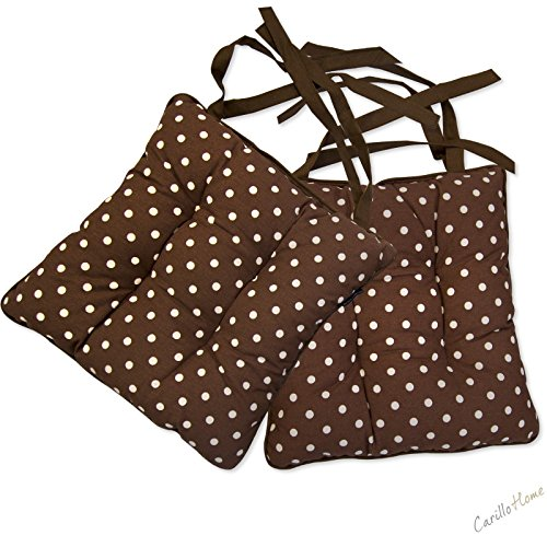 Coppia-Cuscini-Morbidone-Cotton-Pois-40x40-Marrone