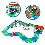 Auto Track Set Glowing Flexible Track mit LED Licht Race Polizei Auto Racing Spielzeug für Kinder Kinder 3456Jahren