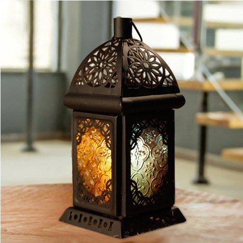 Creative romantique classique Falls Metro Cadeau Lanterne Décorations en fer forgé bougeoirs