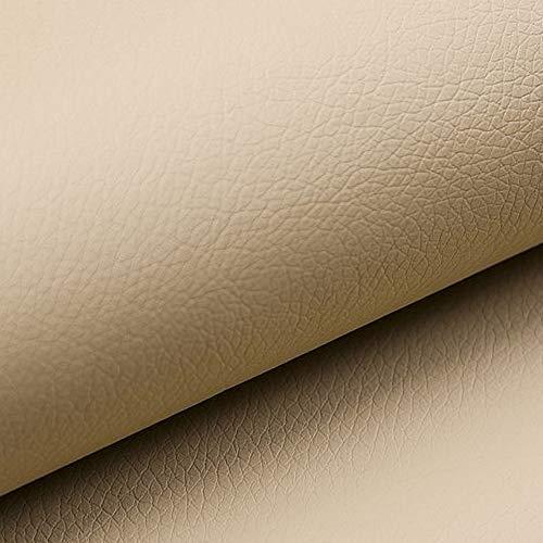 NOVELY® Soltau weiches Kunstleder PU Premium Qualität Polsterstoff mehr als 100.000 Touren Echtleder-Optik (01 Kamel Beige)
