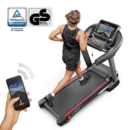 Sportstech F37 Profi Laufband 7PS bis 20 km/h, Selbstschmiersystem, Smartphone Fitness App, 15{08533547a1d0b9b14caa28b7cbd1f5835e78a813ac3261ce7ba24162d85daef1} Steigung, Bluetooth MP3, große Lauffläche mit 8 Zonen Dämpfungssystem bis 150 Kg - klappbar