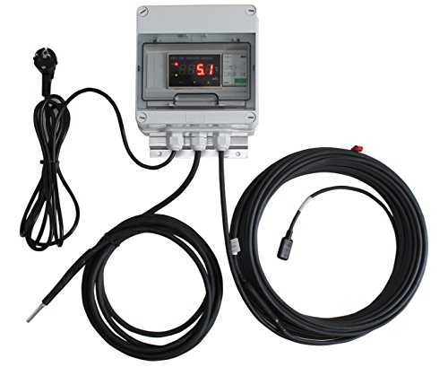 INROT Heiz Systeme Koi Teich Heizungen Digital programmierbar mit Display, 600 W, 16000 L bis 20000 L, 20 m, 70053