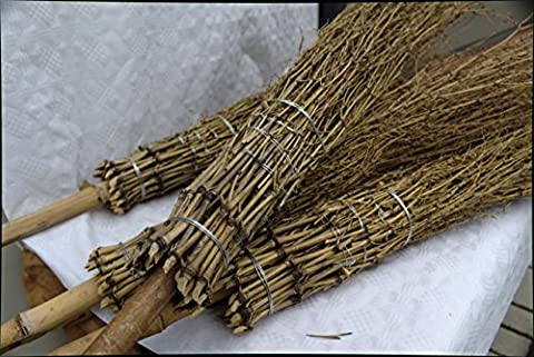 30 Bambus - Besen Reisigbesen