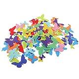 MagiDeal 150er Set Fliz Aufkleber Selbstklebende Schmetterlinge Aufkleber für DIY Handwerk Dekoration
