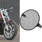 tuincyn motocicleta 61/2Inch parrilla Retro Moto montaje lateral, cabeza lámpara faro delantero máscara Mesk 160mm-170mm para la mayoría de motocicletas Cruiser Chopper Bobber Old school Cafe Racer