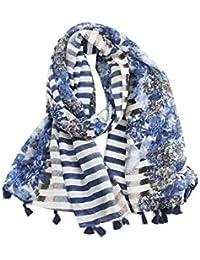 dcd620c4a619 jEZmiSy Cadeau foulard châle, foulard à motif rayé femme pompon automne  hiver, artefact chaud