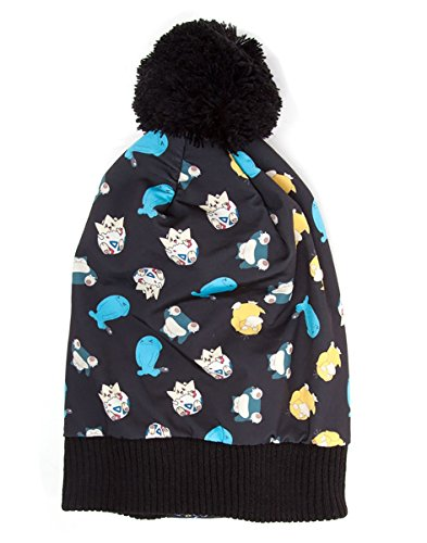Pokemon Unisex All Over Printed Beanie Hat, Schwarz, One size