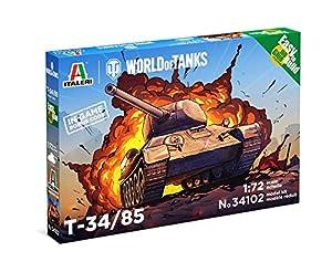 Italeri 34102 34102-1:72 T-34/85 WOT Fast Assembly - Kit de construcción de maquetas, construcción de Modelos, Manualidades, aficiones, Pegamento, Kit de Montaje de plástico, sin Pintar