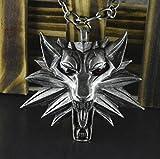 Top-Qualität Witcher Anhänger / 2015 3 The Witcher Medaillon Assistent Halskette / Anhänger wilde Wolfsjagd 3 (roten Augen) by OULS & LU