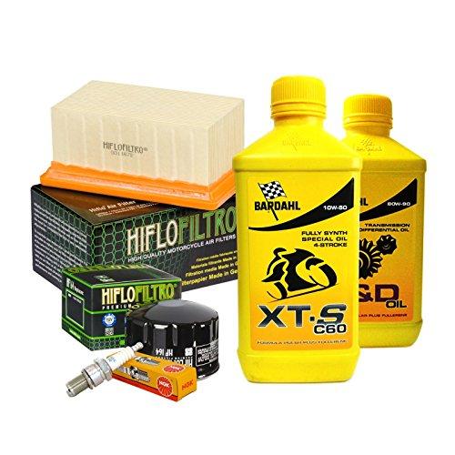 Tagliando Bardahl XTS 10W50 filtro olio aria candele cambio 80W90 R 1200 GS.
