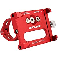Enjoygoeu Antideslizante Soporte de Teléfono de Bicicleta Ajustable Bici Aleación de Aluminio Montaje para Móvil Inteligente GUB Montar Universal Celular GPS (Rojo)
