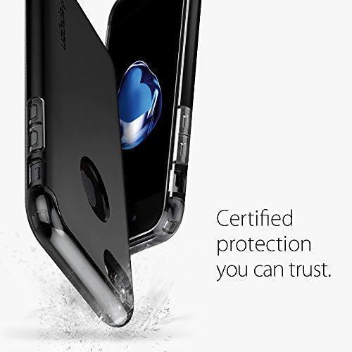 iPhone 7 Hülle, Spigen® [Hybrid Armor] Stoßabweisend [Champagne Gold] Luftpolster-Technologie an den Kanten / 2-teiliges Case Schutzhülle für iPhone 7 Case, iPhone 7 Cover - Champagne Gold (042CS20695 HA Schwarz
