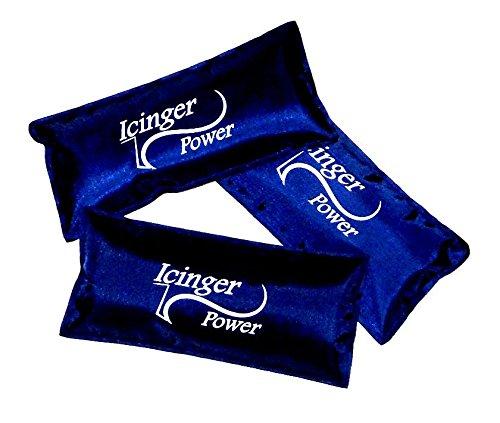 3 petites poches de gel froid Icinger Power - 120g - 15x7cm - Gel hautement refroidissant et enveloppe en Nylon qui ne perce pas