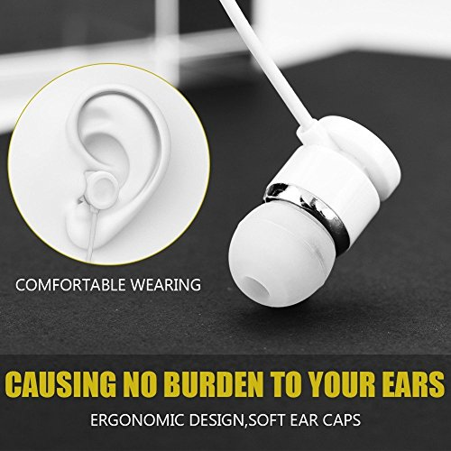 MOBILZA Type-C Plug-in-Ear Earphones,Super Sound Wired Headset Compatible with Smartphones Having Type C Earphone Jack White Image 4