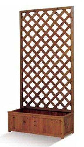 Timar coppia griglia sagomata con fioriera legno trattato 90x40x180 cm colore ciliegio