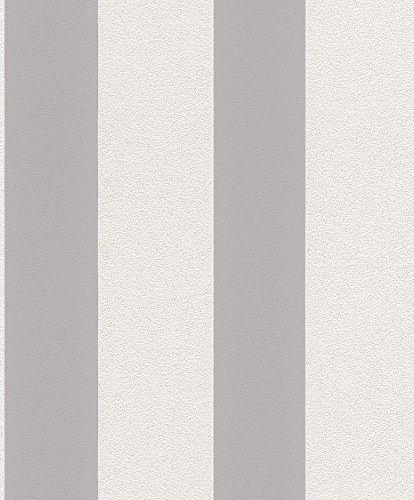 rasch-prego-700220-non-woven-wallpaper-stripes-white-grey