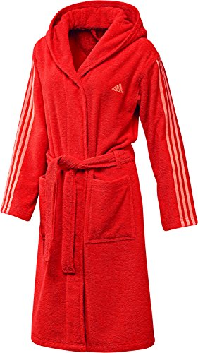 adidas Damen Bademantel 3 stripes bathrobe energy s17/easy orange s17 M