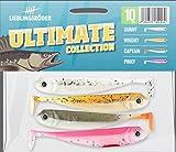 4 Lieblingsköder Gummifische zum Zanderangeln mit Gummifisch 10 cm, Farbe Lieblingsköder:Ultimate Collection
