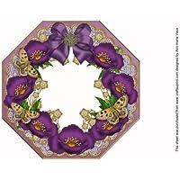 Ann-marie Vaux - Marco de fotos de encaje octogonal, color morado