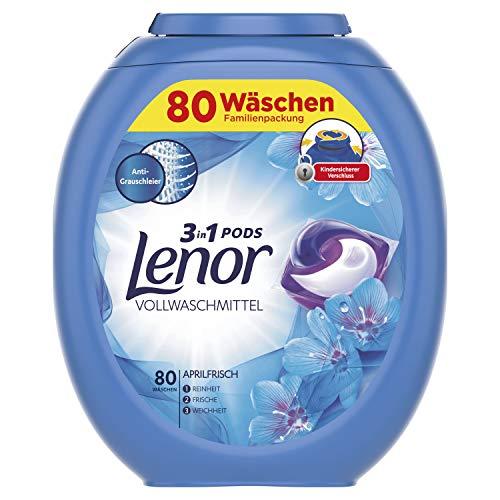Lenor 3in1 PODS Vollwaschmittel Aprilfrisch, 80 Waschladungen