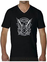 Eagles Of Death Metal BW New Logo Camiseta Cuello V para hombre