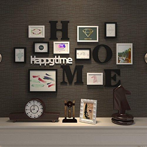 Cadre en plastique, combinaison de mur accrochant de cadre de photo de salon moderne, avec des images et la décoration murale, ensemble de 10 cadres @The harvest season