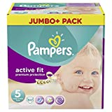 Pampers Active Fit Größe 5 Junior 11-25kg Jumbo Plus Pack, 3er Pack (3 x 60 Windeln)