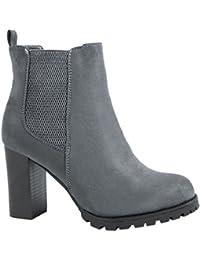 Elara Ankle Boots | Botines moderna Mujer | Block tacón Plateau | chunkyr ayan