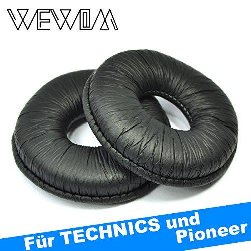 Wewom 2 cuscinetti di ricambio di alta qualitá per cuffie technics rp dj1200 dj1210 dj1200a