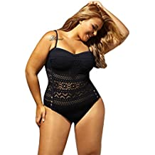 GWELL Sexy Maillot de Bain 1 Pièce Femme élégant Tankini Amincissant Bikini  Ajouré ... 8c9612f52438