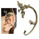 Gleader Orecchini gotichi drago volante in colore bronzo antico