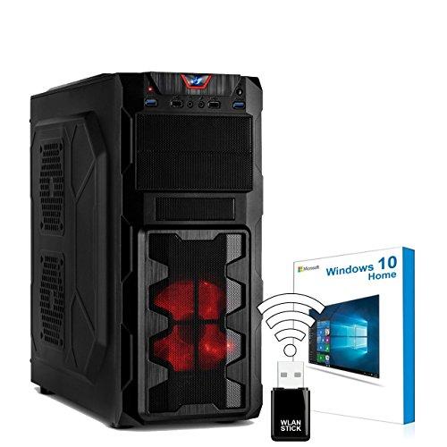 AGANDO Silent Gaming PC | Intel Core i7 7700 4x 3.6GHz | Turbo 4.2GHz | AMD Radeon RX 460 4GB | 16GB RAM | 240GB SSD | 1000GB HDD | DVD-RW | USB3.1 | WLAN | Windows 10 | 36 Monate Garantie | Computer für Multimedia, Gaming, Büro/Office