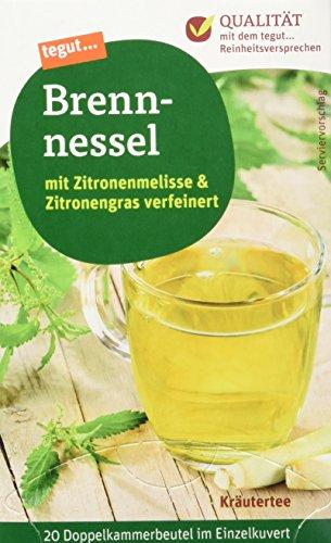 tegut... Brennesseltee mit Zitronengras und Zitronenmelisse, 20 Beutel, (1 x 40 g)