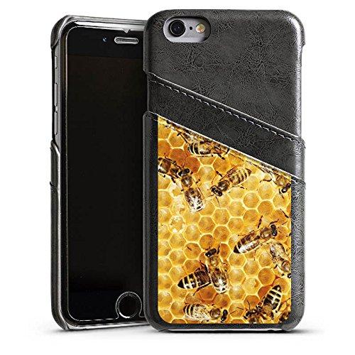 Apple iPhone 6 Housse Étui Silicone Coque Protection Abeilles Abeille Insectes Étui en cuir gris